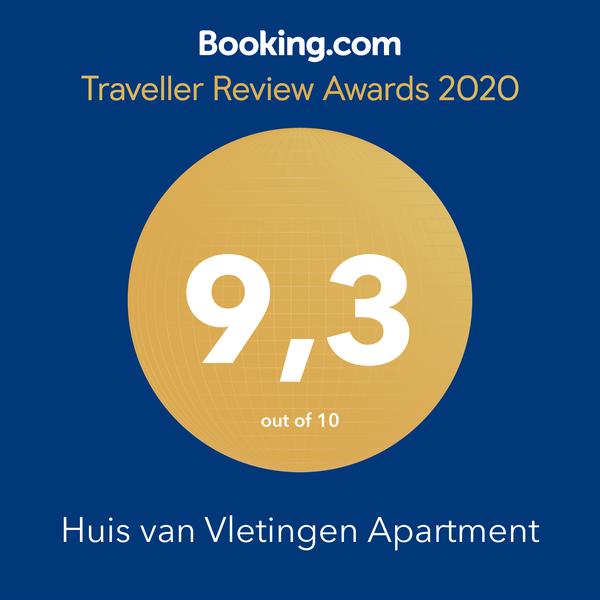 Booking.com award for Huis van Vletingen in Ghent