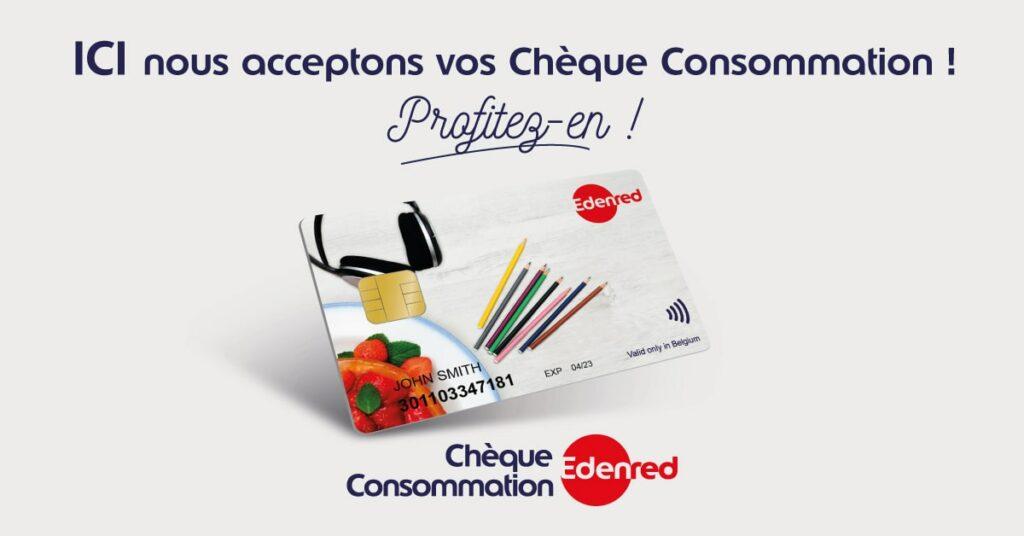Nous acceptons vos chèques consommation
