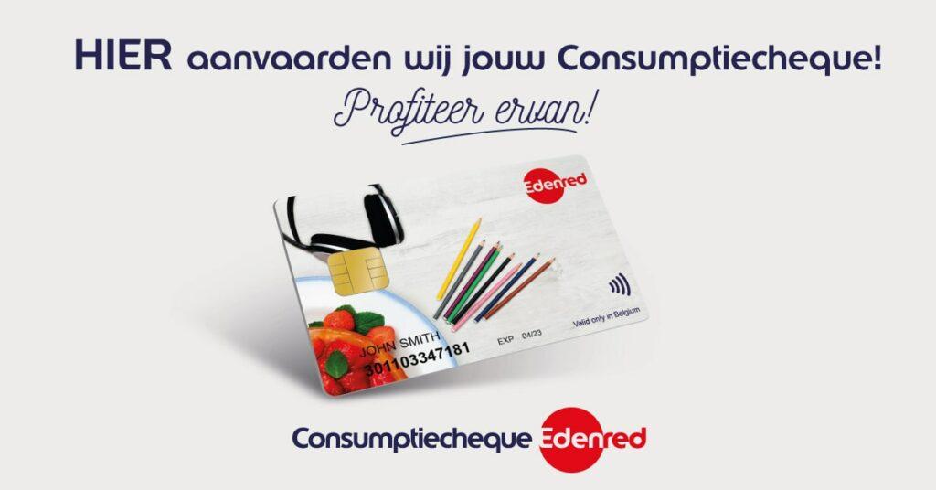 Hier aanvaarden wij jouw Consumptiecheque